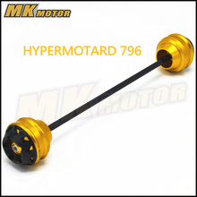 Free shipping for ducati HYPERMOTARD 796 2010-2012 CNCAluminum Front &  Axle Fork Crash Sliders Wheel Protector