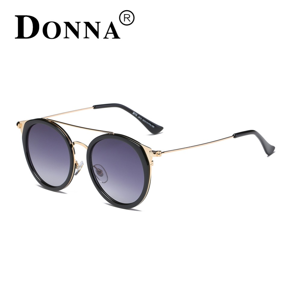ed97a7614b DONNA Ladies Sunglasses 2017 Women Round Cat Eye Oversized Plastic Black  Brown Lenses Vintage Sunglass D76-in Sunglasses from Apparel Accessories on  ...