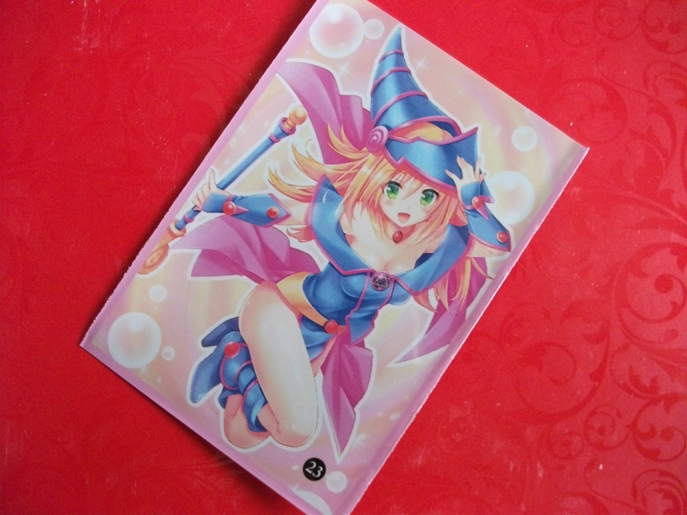 100pcs/lot 62x89mm Board Games anime image Card Sleeves for Japanese girls Cards protector for Yu-Gi-Oh cards