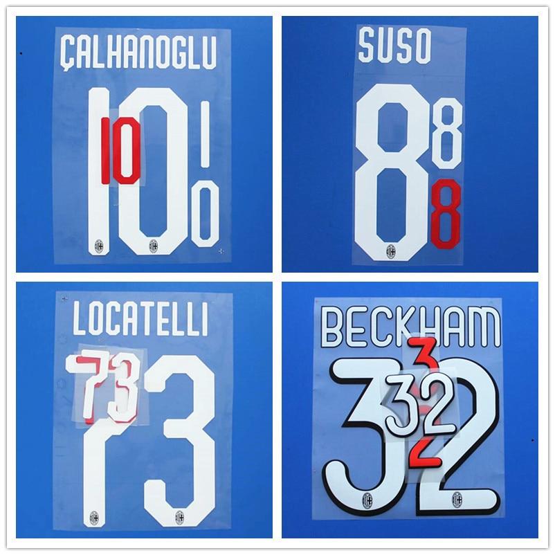 2018-2019 Real Madrid #7 RONALDO Home Nameset Name set Shirt Print
