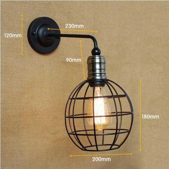 American Country Loft Style Industrial Lamp Vintage Wall Lamp Fixtures Edison Wall Sconce Arandelas Wandlamp цена 2016
