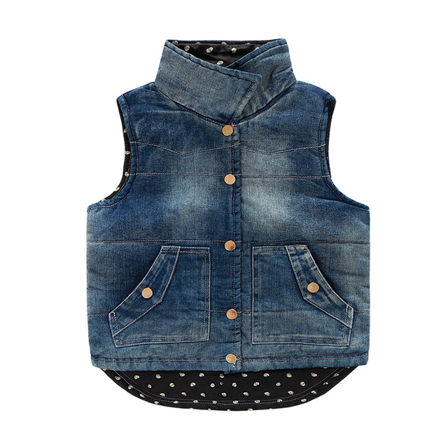 new winter han edition 2016 male and female children's wear children's wear and children cotton thickening cowboy vest vest