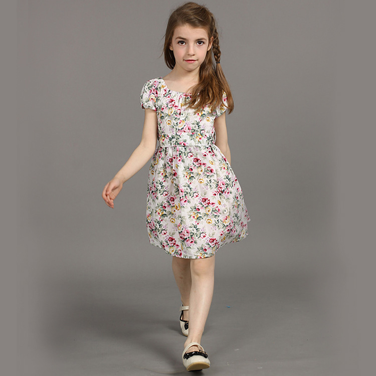 2017 new summer baby girls cute floral cotton princess dress 1 8age kids  children fashion European hot sale vestidos clothes 401-in Dresses from  Mother ... 6f83949058bc