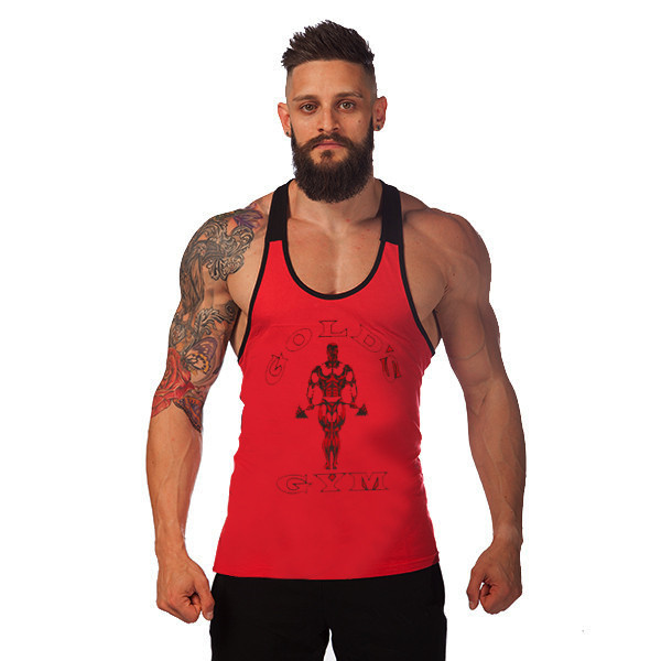 29f8e27e492e6 Golds Gym Tank Top Mens Bodybuilding Tank Tops Stringer Singlet Fitness  Sleeveless Shirt Muscle Vest Cotton GASP Racerback ZYZZ