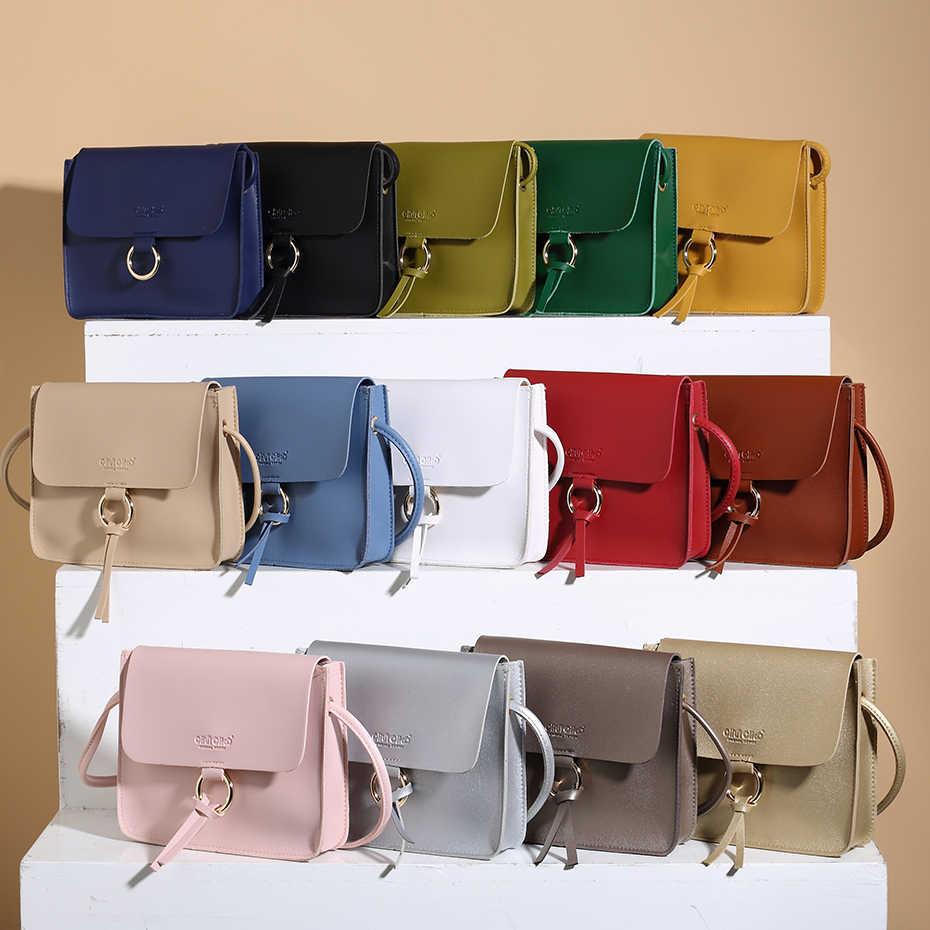 a511fdba5 brand small shoulder bag for women messenger bags ladies retro PU leather  handbag purse with tassels
