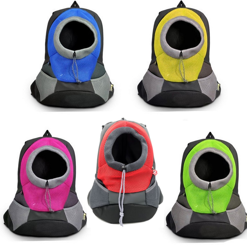 Pet Dog Carrier Pet Backpack Bag Portable Travel Bag Pet Dog Front Bag Mesh Backpack Head Out Double Shoulder Outdoor