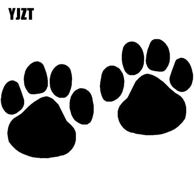 yjzt 10 2 6 4cm cat and dog paw print car styling decoration decal rh aliexpress com cartoon pictures dog paw prints cartoon dog paw drawing