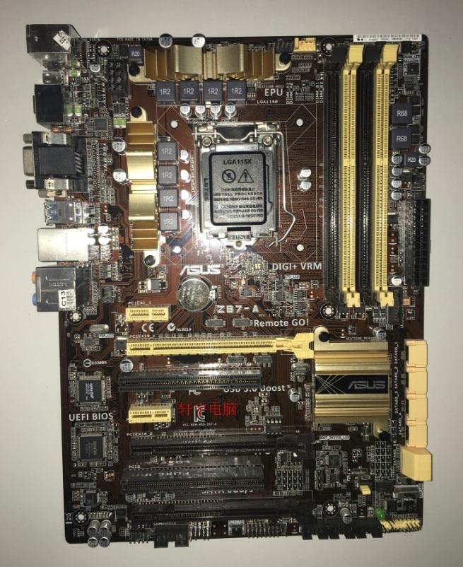 Used,for Asus Z87-A Original Motherboard Z87 Socket LGA 1150 i7 i5 i3 DDR3 32G SATA3 USB3.0 ATX