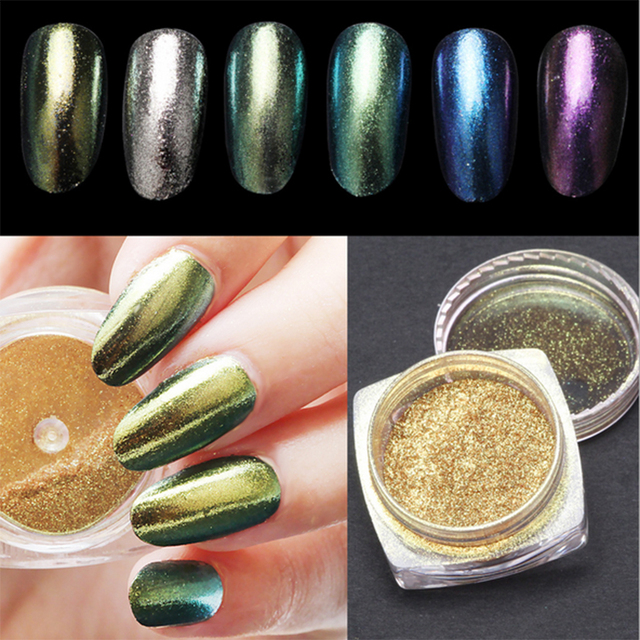 New Arrive 2g Magic Mirror Powder Nails Classic 6 Colors Available ...