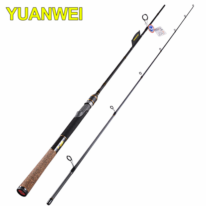 1.98m 2.1m YUWEI 2 Section Carbon Fishing Rods 6-24g Lure Weight Fiber Lure Rod Carp Olta Pole 6-14LB Line Weight Vara De Pesca new baitcsting fishing rods carbon m ml mh1 8m 2 1m 2 4m varas de pesca fishing pole for carp fish peche