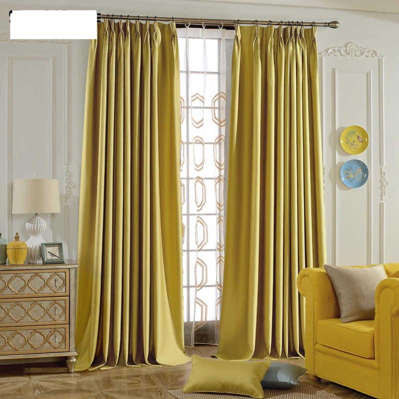 cortina simples campo moderna cortinas da sala de estar quarto cortina blecaute cortina de
