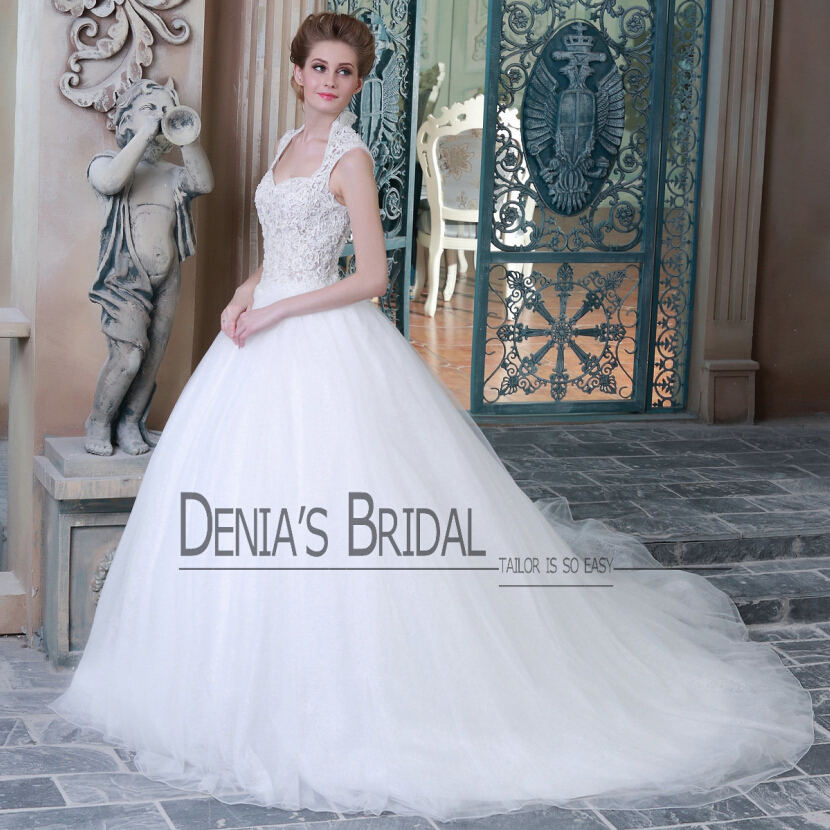 real vestido de noiva elegant lace appliques cap sleeve wedding dresses a line bridal gowns denias