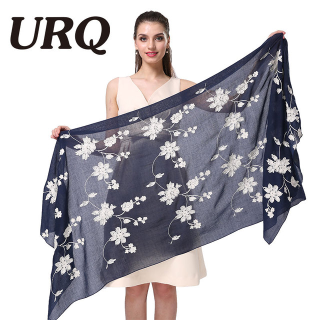 big foulard embroidered shawl scarf for women from india shawl scarves winter pashmina cotton voile scarf luxury brand 2016 new
