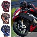 Caliente de La Motocicleta Motorbilke Cycling Racing Completo Dedo Guantes de Tela de Malla de Poliéster Guantes Protectores para Deportes Al Aire Libre 3 Colores