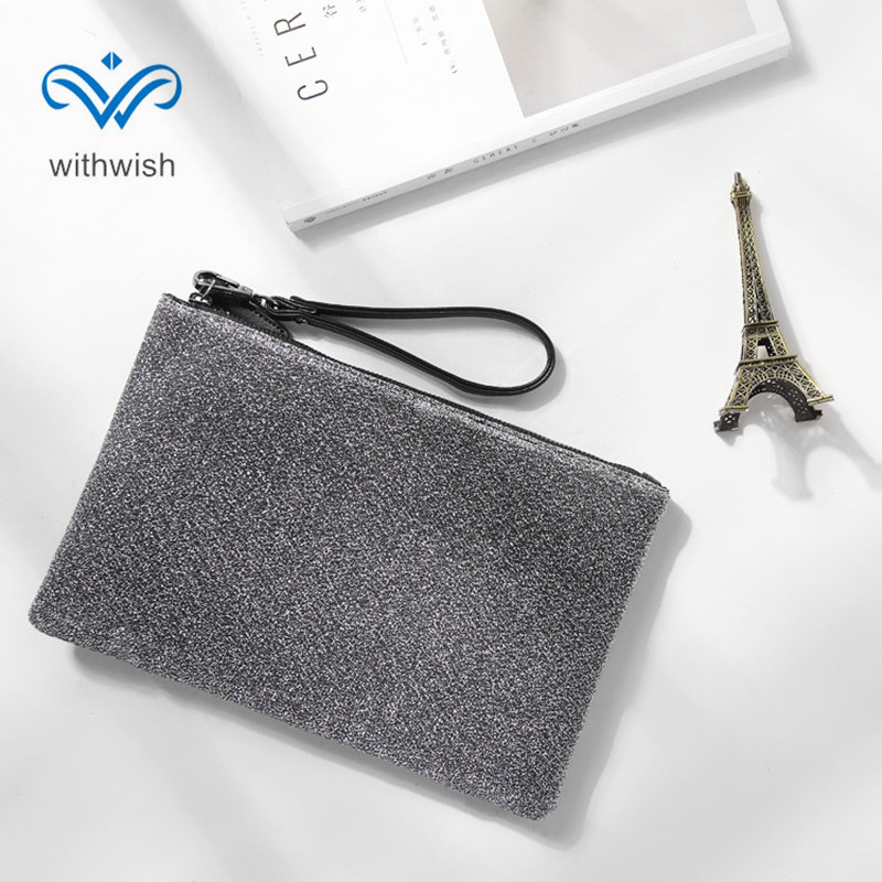 EU Concise Style Zipper Wrist Bag Multi - functional Handbag Large Capacity Wallet Clutch Bags Mobile Phone Bag Free Shipping functional capacity of mango leave extracts