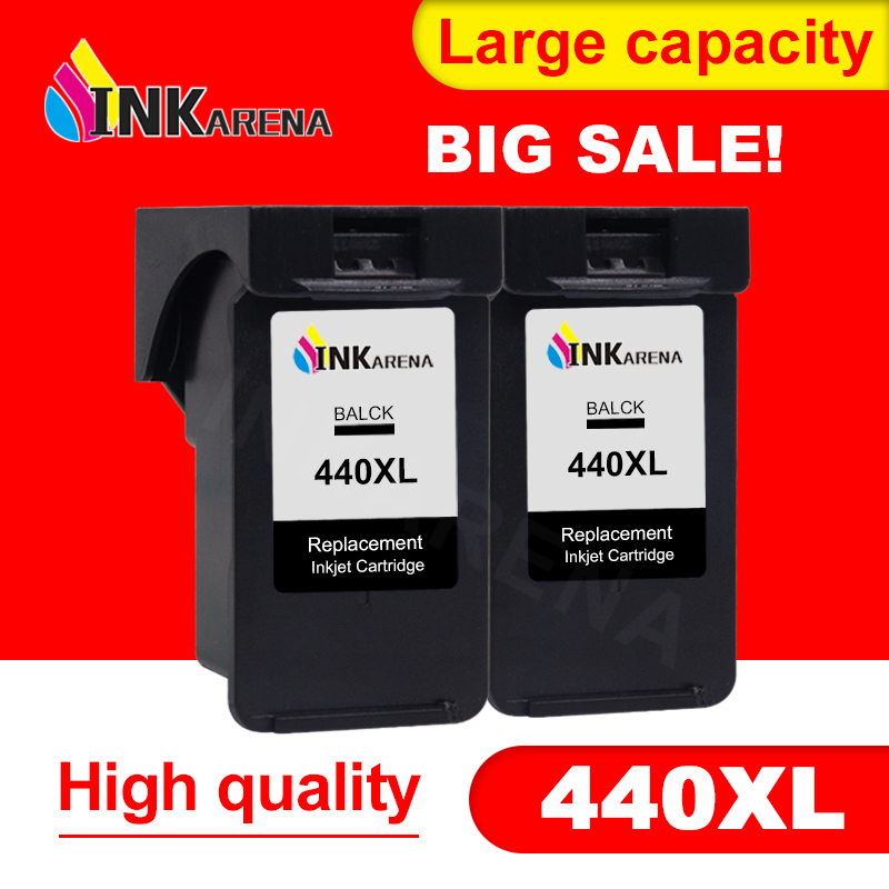 2PCS Black PG440 PG-<font><b>440</b></font> PG <font><b>440</b></font> <font><b>XL</b></font> Ink Cartridge For <font><b>Canon</b></font> PIXMA MX374 MX394 MX434 MX454 MG3240 MG3540 inkjet printer tinta image