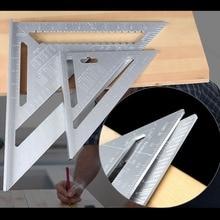 купить Portable Aluminum Alloy Triangular Metal Ruler Speed Square Protractor Miter Woodworking Miter Framing Measuring Angle Ruler по цене 541.84 рублей