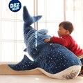 Горбатых китов акула плюшевые игрушки большой кит кукла домой подушки мультфильм акула синий кит детей подушку чучела животных
