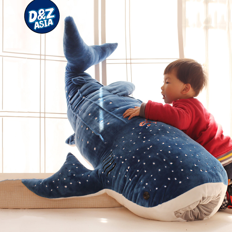 Baleine à bosse requin en peluche jouet grosse baleine poupée maison coussins de bande dessinée requin bleu baleine enfants oreiller en peluche animaux