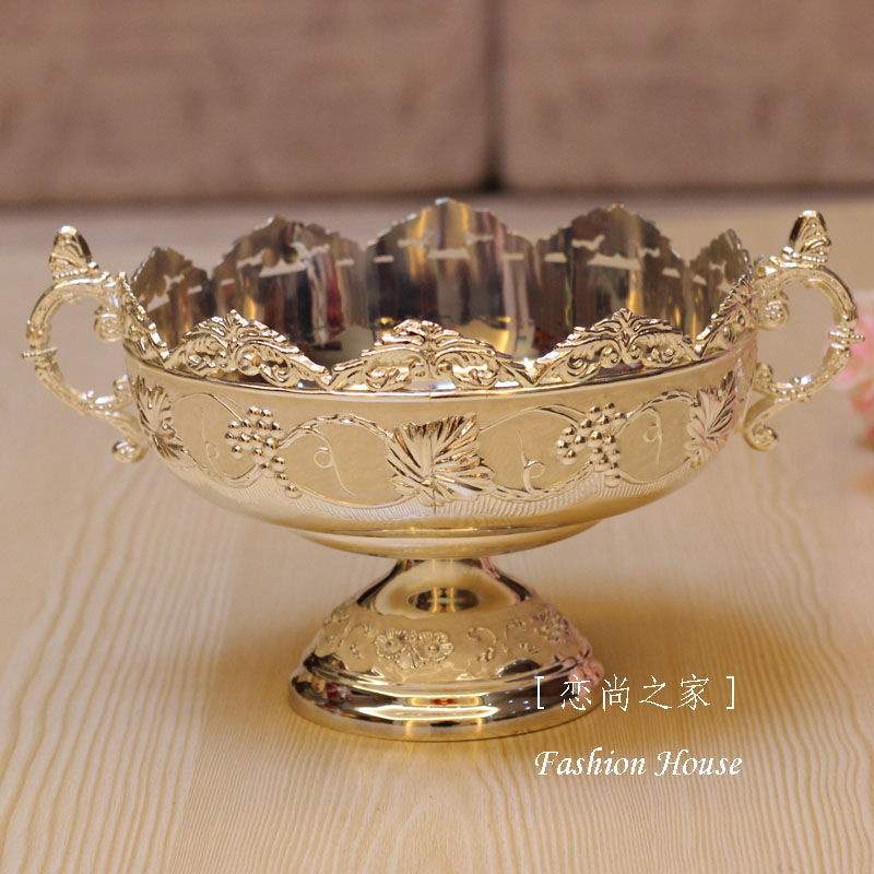 New arrival silver blue compotier quality fashion alloy fruit bowl dried fruit bowl ktv desktop dish plateNew arrival silver blue compotier quality fashion alloy fruit bowl dried fruit bowl ktv desktop dish plate
