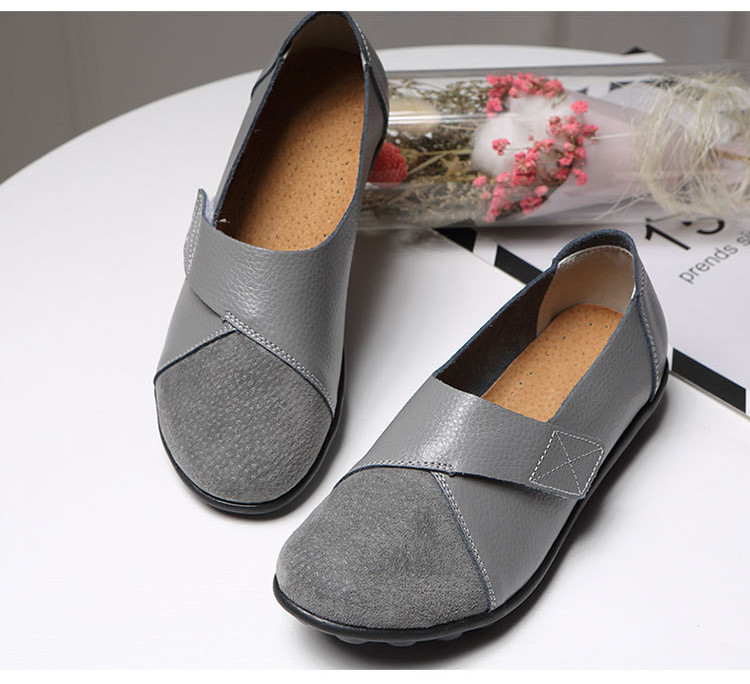 AH 1987-2019 Spring Autumn Women's Shoes Genuine Leather Woman Loafers-9