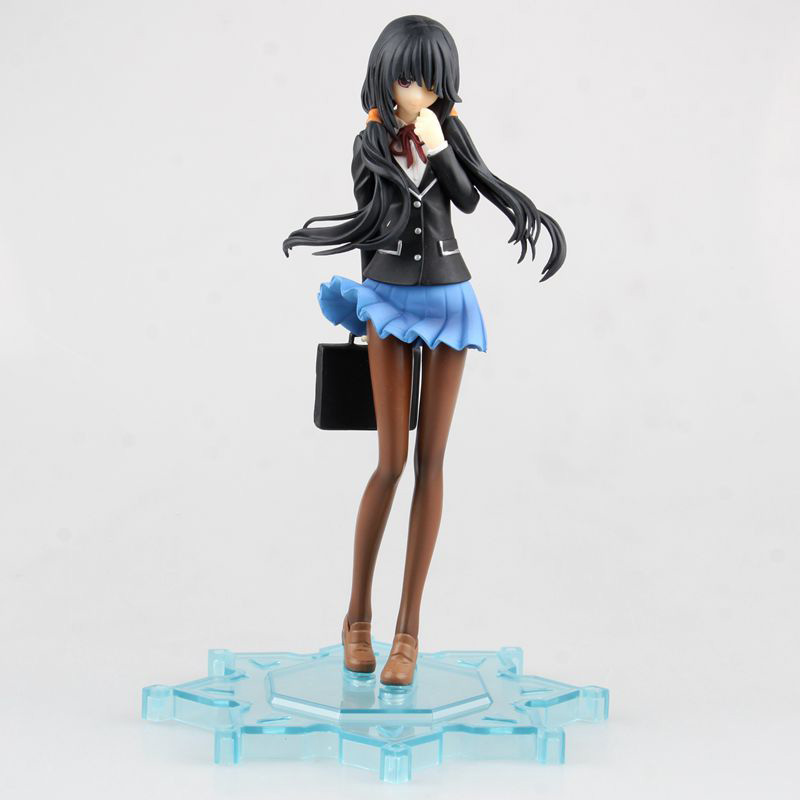 ZXZ Date A Live Tokisaki Kurumi School Uniform Figma 16Cm Japan Anime Pvc Vocaloid Figures Kids Hot Toys for Children Gifts japan anime date a live wallet tokisaki kurumi cosplay wallets coin card women men bifold purse