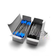 HOT!!! Dla rolki atrament do długopisów i wkłady długopis długie pióro niebieski wkłady długopisowe i czarny wkłady długopisowe darmowa wysyłka tanie tanio Metal 0 5mm Biuro i szkoła pen refill02 blue and black 4g pc 11 5cm