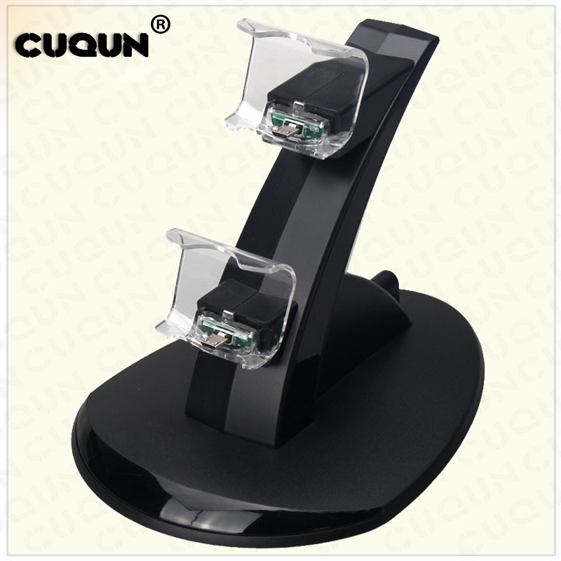 Dual USB Charging Dock Station For PlayStation 4 PS4 for PS4 Slim/Pro Controller Charger Stand with USB Cable
