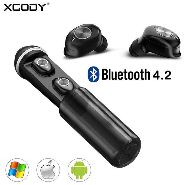2db1be87bda XGODY A8 True Wireless Earbuds with Mic Professional Touch TWS Earpiece  Mini Sport Bluetooth Earphone With