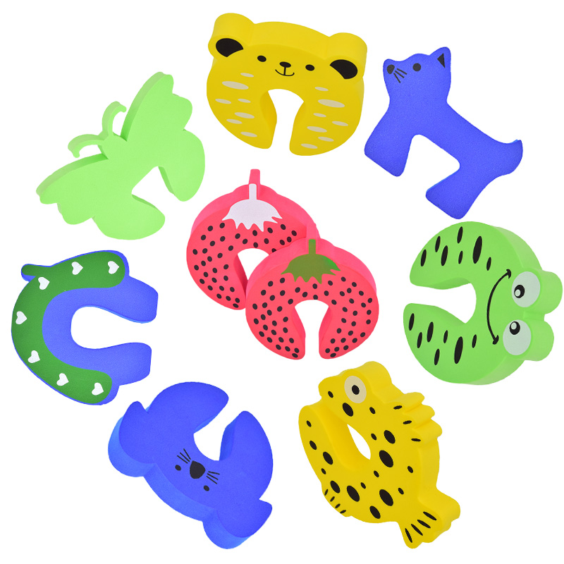 4pcs/lot Baby Safety Door Card Protector Kids Child Cartoon Door Edge Corner Stopper Clip Security for Baby Finger Protector