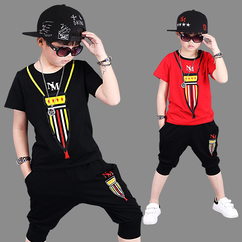 Summer Boys Clothes Cartoon Kids Boy Clothing Set Outfits Suit Children Clothes Set 2 piece Toddler Boys Short T Shirt Pant Sets yellow dino boy clothes set roar children t shirt plaid pant suit kids outfit 100% cotton tops panties 2 3 4 5 6 7 year clothing