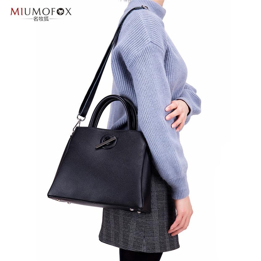 2019 nuevo diseño de cuero genuino moda mujer bolsos de mano largo sólido versátil Messenge bandolera para mujer cuatro estilos W340 - 5