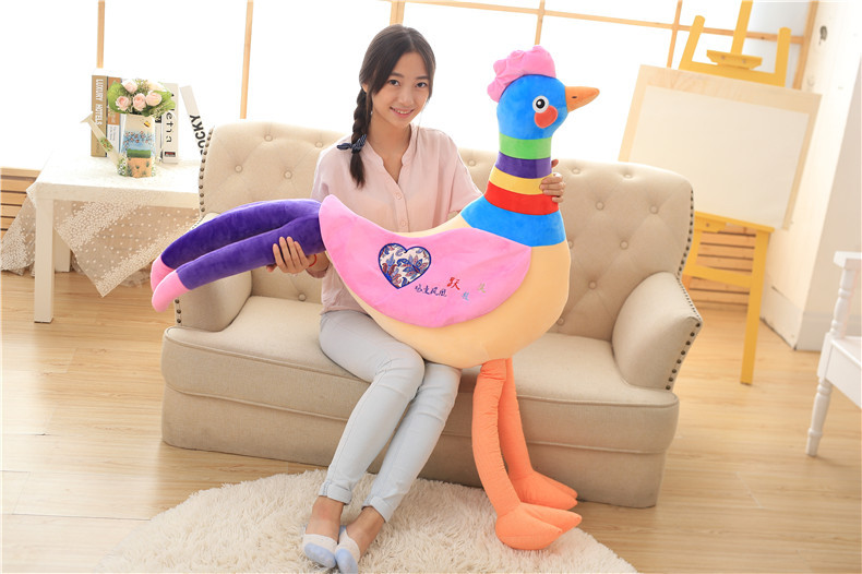 huge 120cm creative rainbow colour chick plush toy soft cushion,throw pillow,surprised birthday gift h2990 lovely giant panda about 70cm plush toy t shirt dress panda doll soft throw pillow christmas birthday gift x023