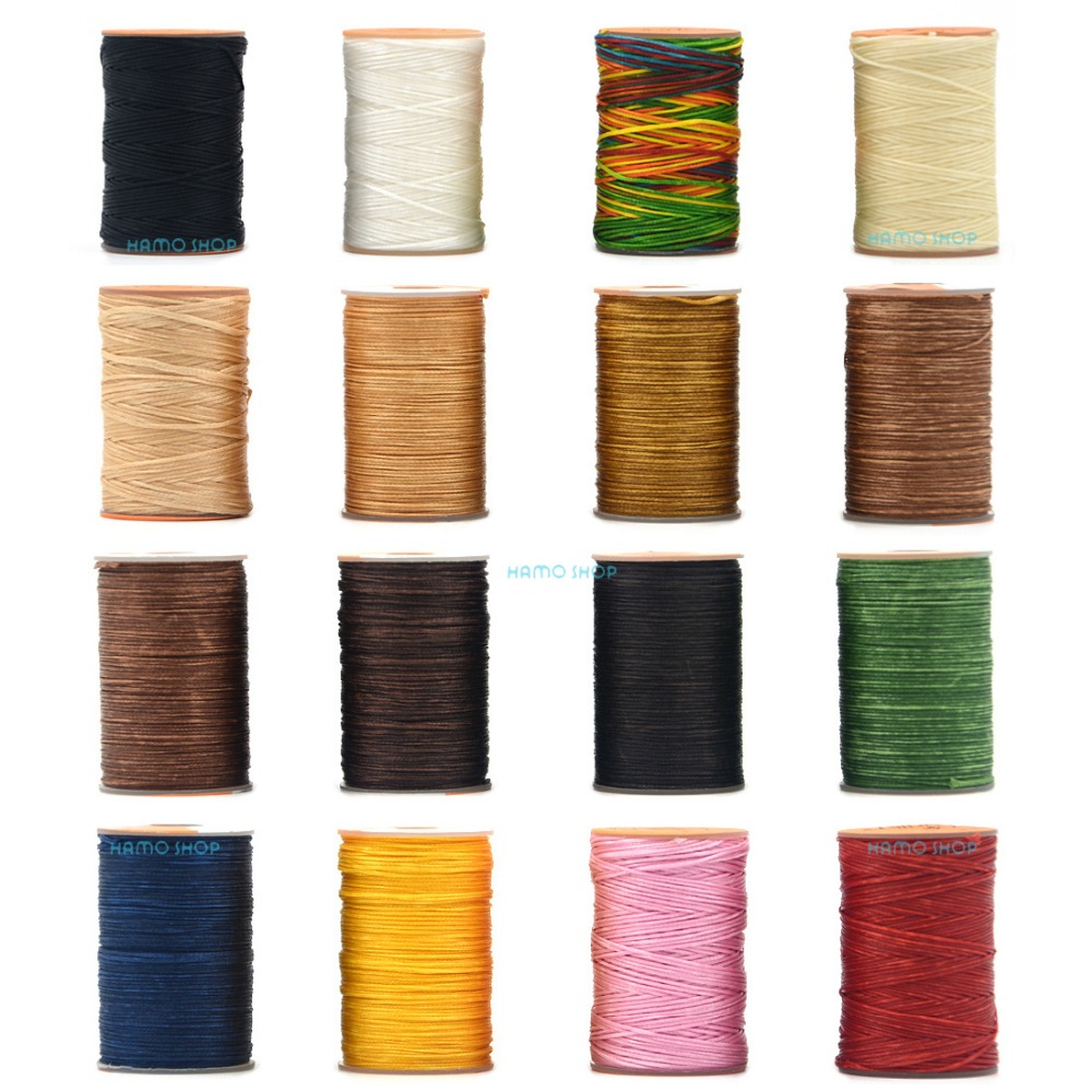 150D 0.8mm 100M Waxed Thread Cord For DIY Handicraft Tool Hand Stitching Thread Flat Waxed Sewing Line Clothing Shose Leather