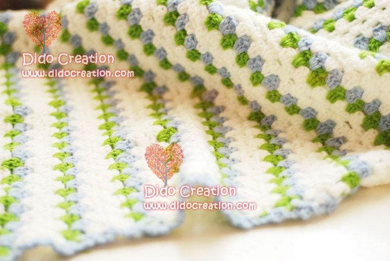 Mano libre del envío Crochet rayas Bebé Suaves Mantas Afgana ...