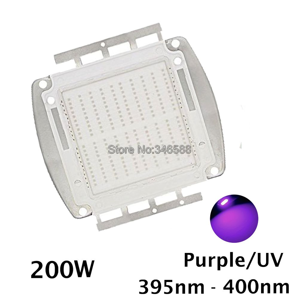 42Mil 200W Epileds Ultra Violet UV High Power Light Chip 365nm-370NM,380nm-385nm,395-405nm,420nm-425nm DIY COB Light Source 10w 12w ultra violet uv 365nm 380nm 395nm high power led emitting diode on 20mm cooper star pcb