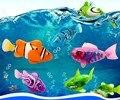 4 peças/lote Engraçadas Natação Robofish Eletrônico Alimentado Por Bateria Ativado Robo Brinquedo peixe de Estimação Robótico para Decoração Do Tanque de Peixes de Pesca