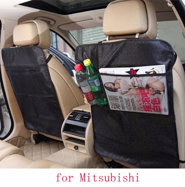 for mitsubishi asx outlander lancer pajero car seat covers baby Kick protector mats black waterproof car accessories interior