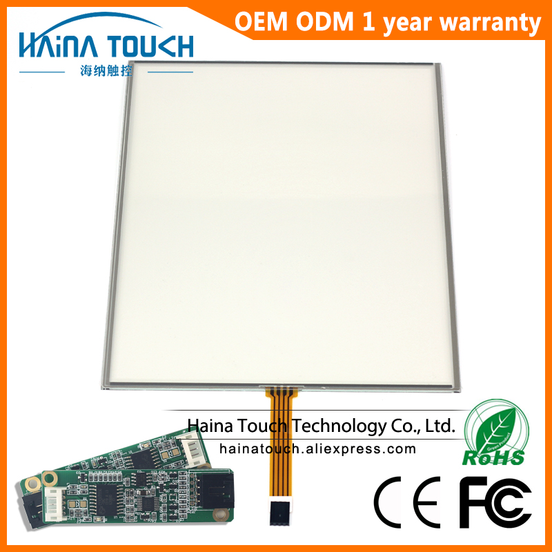 Win10 Compatible 4 3 12 inch includes USB Controller 4 Wire Resistive Touch Screen Panel Touch