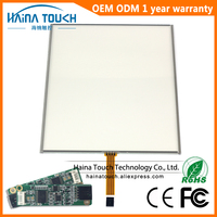 Win10 Compatible 4:3 12 inch includes USB Controller 4 Wire Resistive Touch Screen Panel Touch panel for Laptop