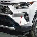 Для Toyota Rav4 Rav 4 Limited LE XLE 2019 2020 Хромированная передняя противотуманная фара Foglight для бровей и век формовочная отделка Аксессуары