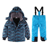 Toddler Boy Ski Suit Winter 30 Degre Snow Suit Waterproof Windproof Padded Jacket With Pants