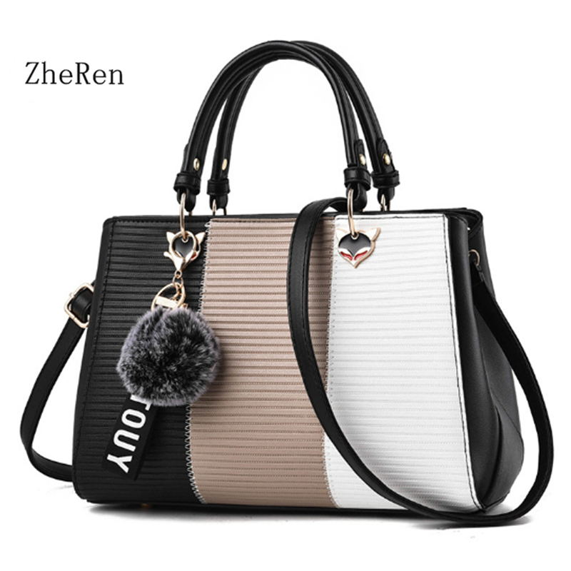 for women bag 2017 new winter fashion women bag color all-match hair ball pendant Korean Handbag Shoulder Bag Messenger Bag