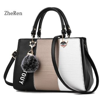 for women bag 2017 new winter fashion women bag color all-match hair ball pendant Korean Handbag Shoulder Bag Messenger Bag grande bolsas femininas de couro
