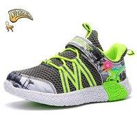 Dinoskulls Boys Shoes Kid Light Up LED Breathable Dinosaur Shoes Boys Sneakers Tenis Infantil Toddler Girl Boy Sneakers 26 31