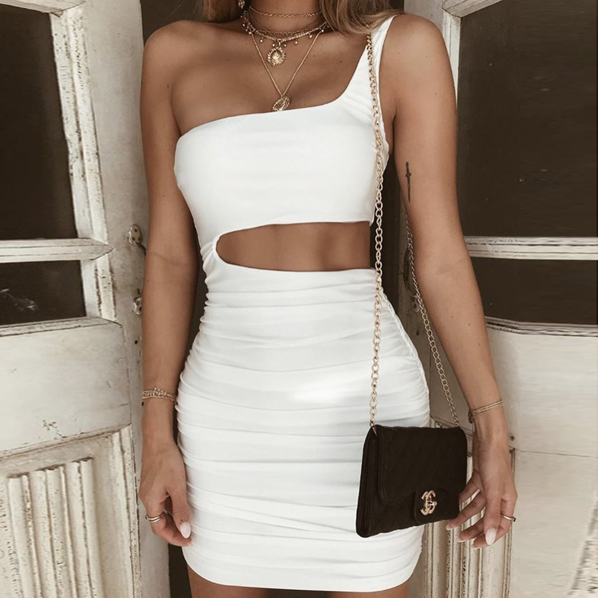 8a3ac19b09edf best top 10 dress cut out asymmetrical list and get free shipping ...