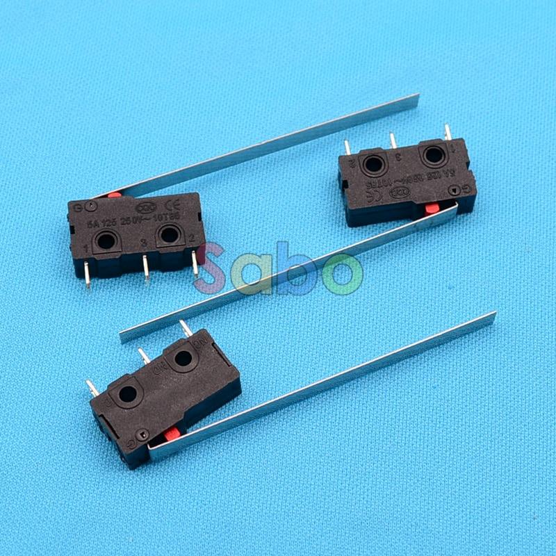 10 шт. концевой выключатель, 3 Булавки N/O n/c высокое качество все новые 5A 250vac микро-переключатель