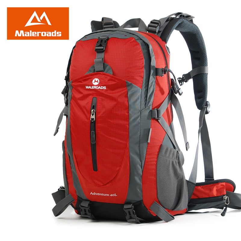 Maleroads sac à dos d'escalade camping imperméable randonnée voyage pack plein air sport sac à dos pour femmes et hommes 40L - 5