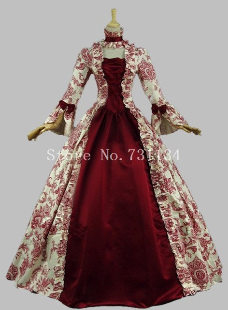 Colonial Victorian Gothic Ste&unk Dress Gothic Period Gowns Reenactment Theatre Clothing Renaissance Medieval Costumes & Colonial Victorian Gothic Steampunk Dress Gothic Period Gowns ...