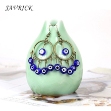 Fashion Retro Women Earrings Trend National Charm Ladies Blue Eyes Pendant Jewelry Small Accessories Gift